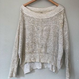 Free People Open Knit Lightweight Sweater Small